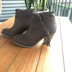 MIA Brown Booties Size 6